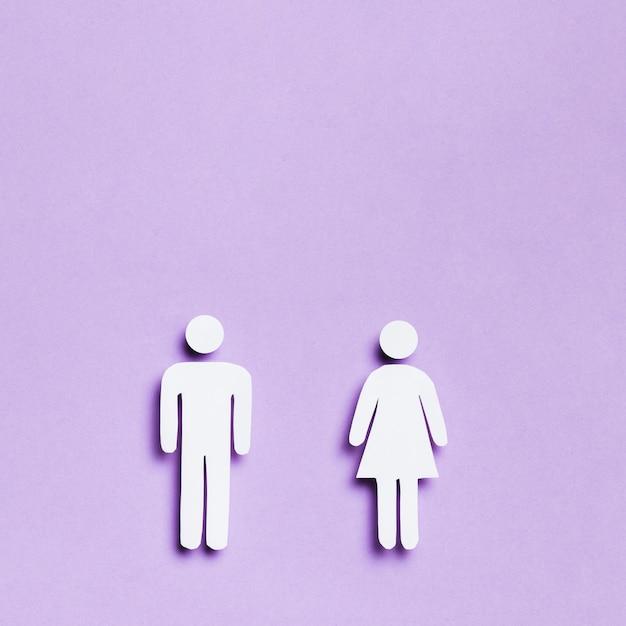 Kreskówki Kobieta I Mężczyzna Równej Wielkości I Kopii Przestrzeń Darmowe Zdjęcia