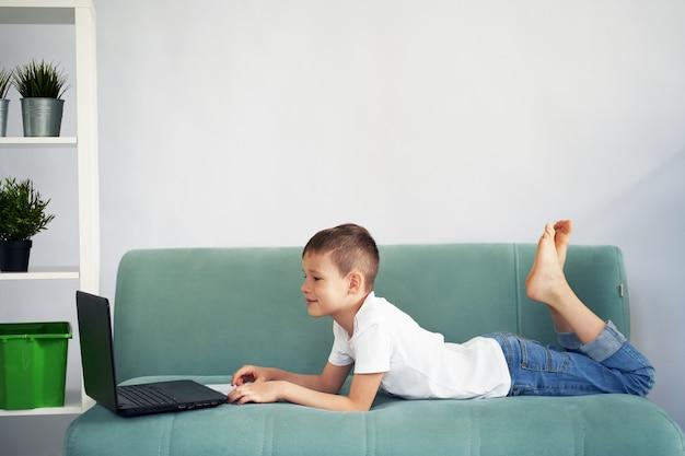 Kształcenie Na Odległość W Domu Ze Studentami. Studenci Uczą Się W Domu. Premium Zdjęcia
