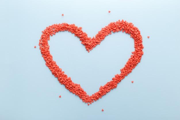Kształt Serca Czerwone Słodkie Cukierki Premium Zdjęcia