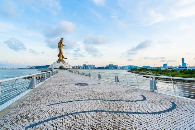 Kun Iam Statua Punkt Zwrotny W Macau Mieście Darmowe Zdjęcia