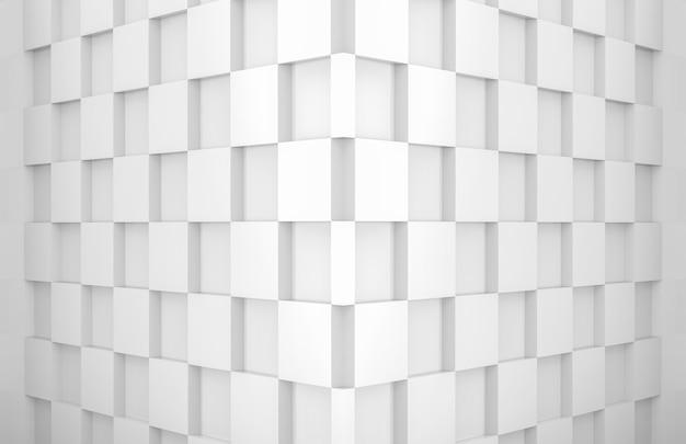 Kwadratowa kratka płytka podłogowa narożna ściana pokoju Premium Zdjęcia