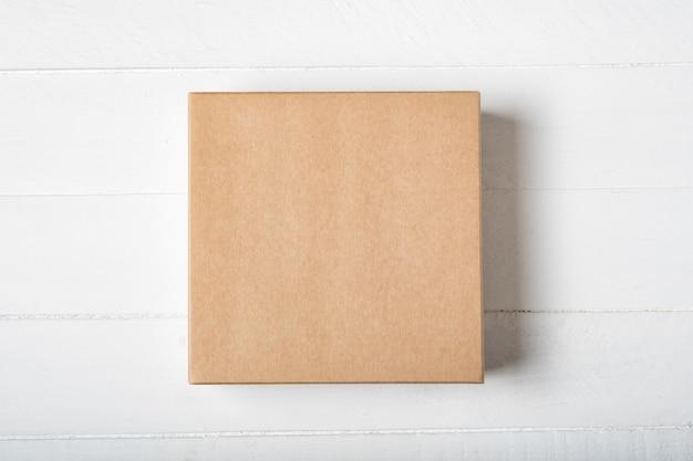 Kwadratowe Pudełko Kartonowe Premium Zdjęcia