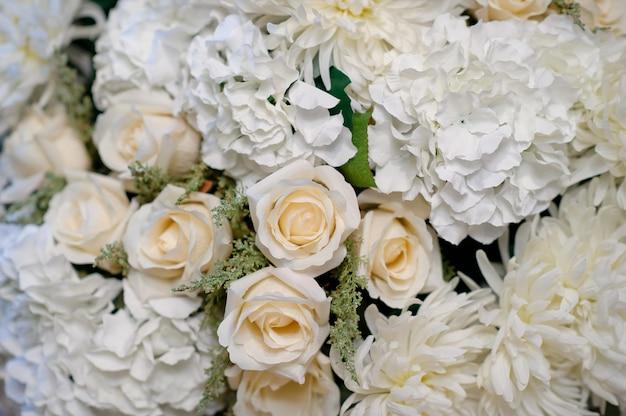 Kwiat Tło Dekoracje ślubne Tło Wzór Róży Kwiat ściany Kolorowe