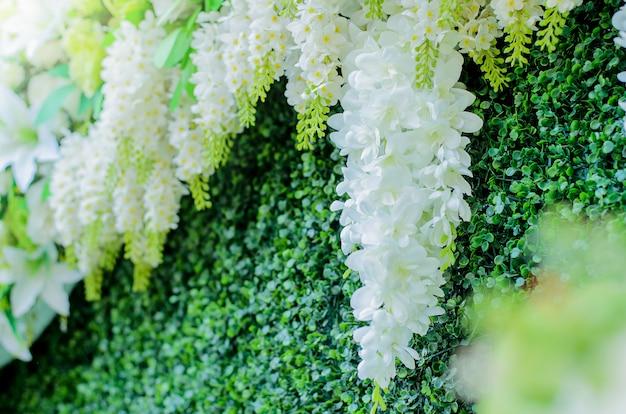 Kwiaty na ślub, białe kwiaty Premium Zdjęcia
