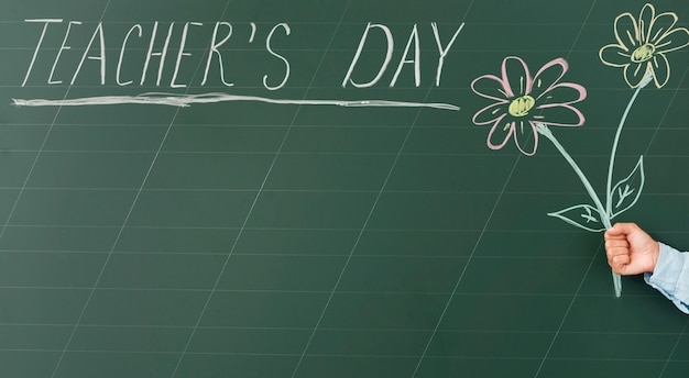 Ładny Dzień Nauczyciela, Rysunek I Tekst Na Tablicy Darmowe Zdjęcia