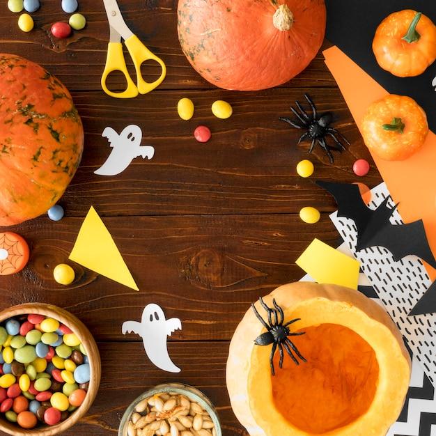 Ładny Koncepcja Halloween Z Miejsca Na Kopię Darmowe Zdjęcia