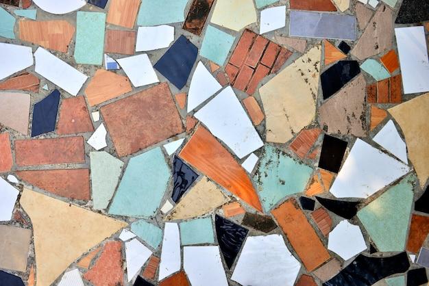 Łamany Płytki Mozaiki Wzór Dla Tekstury Tła. Premium Zdjęcia