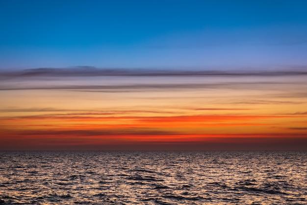 Lanscape Zmierzchu Niebo I Morze. Premium Zdjęcia