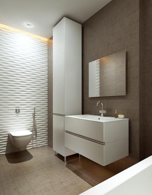 Łazienka W Nowoczesnym Stylu Premium Zdjęcia
