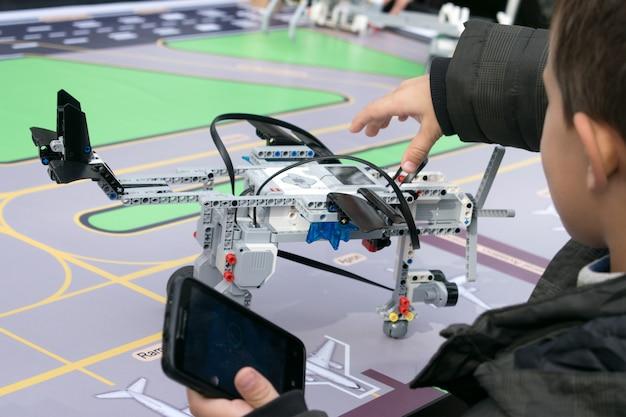 Lekcje robotyki Premium Zdjęcia