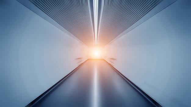 Lekki Szlak W Tunelu Premium Zdjęcia