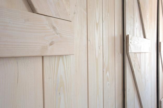 Lekkiej Drewnianej Stajni Drzwi Tła Tekstury Nowożytny Wewnętrzny Zakończenie Premium Zdjęcia
