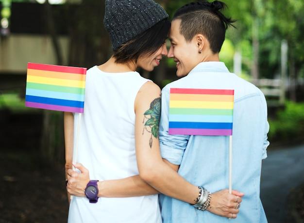 Lgbt Asian Lesbijek Para Darmowe Zdjęcia