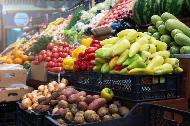Licznik Rynku Rolników Warzywnych Premium Zdjęcia