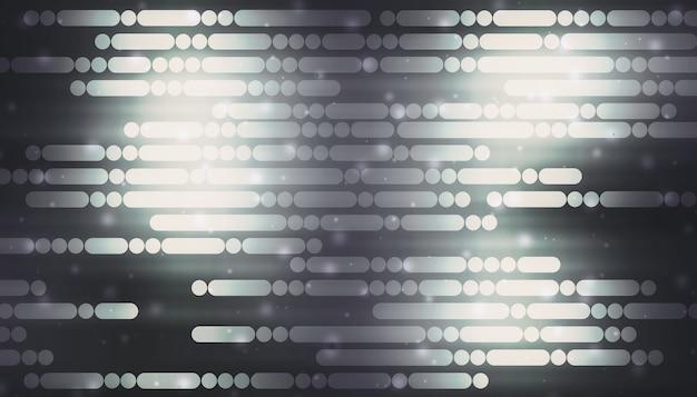 Linie I Kropki, Które Błyszczą Na Czarnym Tle Koncepcja Technologii Cyfrowej High-tech Streszczenie Futurystyczna Linia Tła 3d Ilustracji Premium Zdjęcia