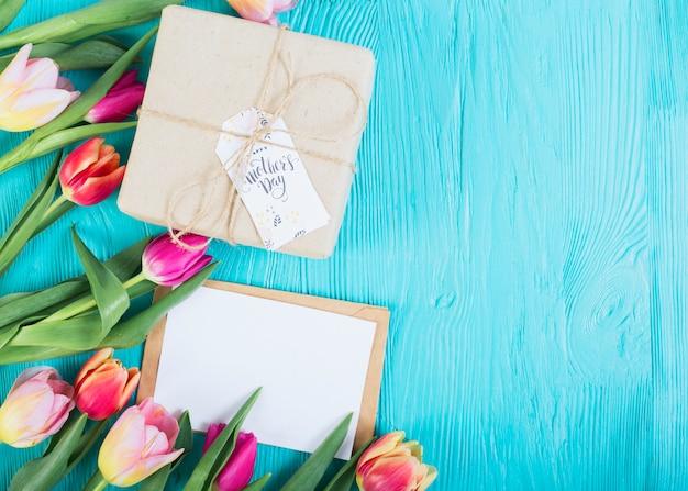 List I Pudełko Z Tulipanów Darmowe Zdjęcia