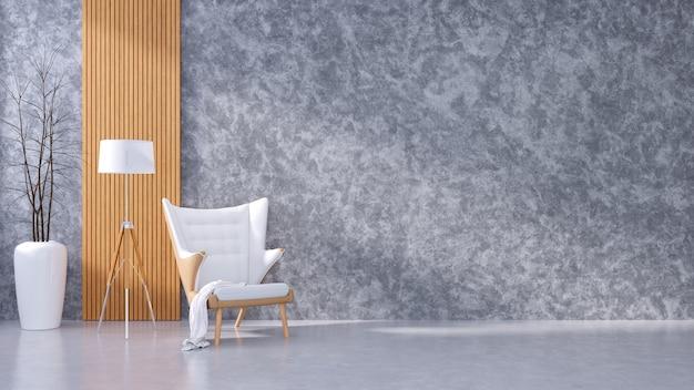 Loft nowoczesne wnętrze salonu i przytulny styl życia Premium Zdjęcia