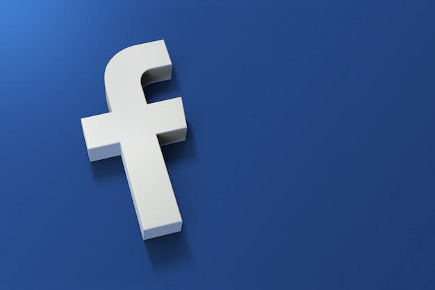 Logo 3d Facebook Minimalistyczne Z Pustą Przestrzenią Premium Zdjęcia