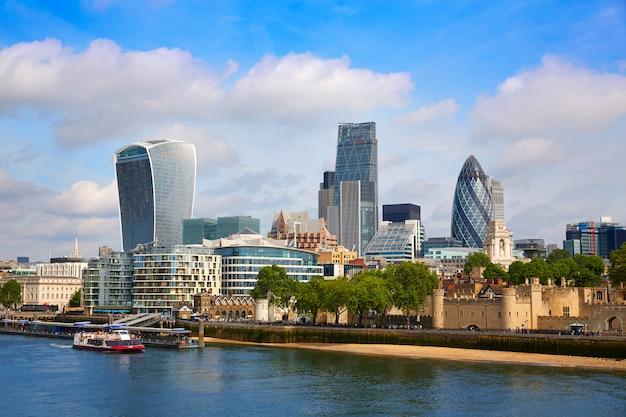 Londyn dzielnicy finansowej skyline square mile Premium Zdjęcia