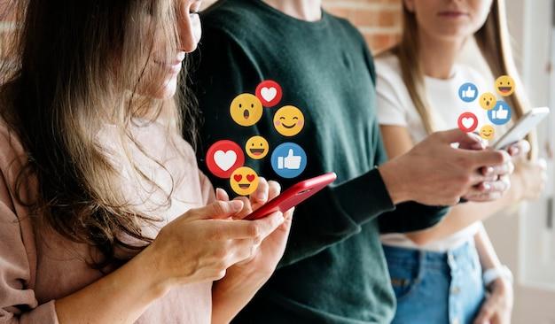 Lubi w mediach społecznościowych Premium Zdjęcia