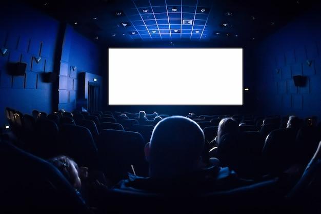 Ludzie W Kinie Oglądają Film. Premium Zdjęcia