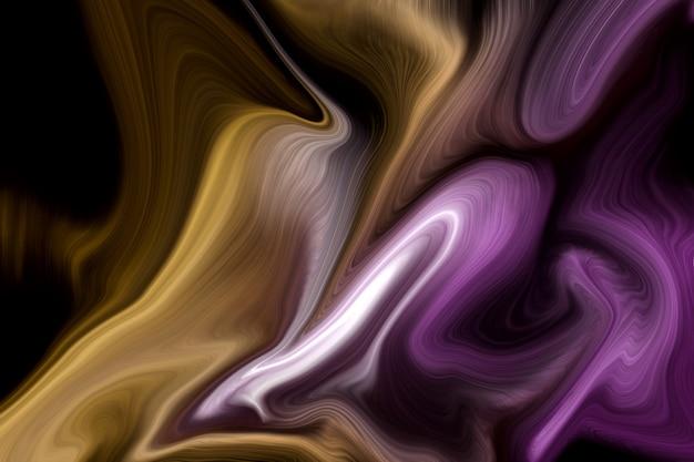Luksusowe purpurowe i złote płynne kolory tła Premium Zdjęcia