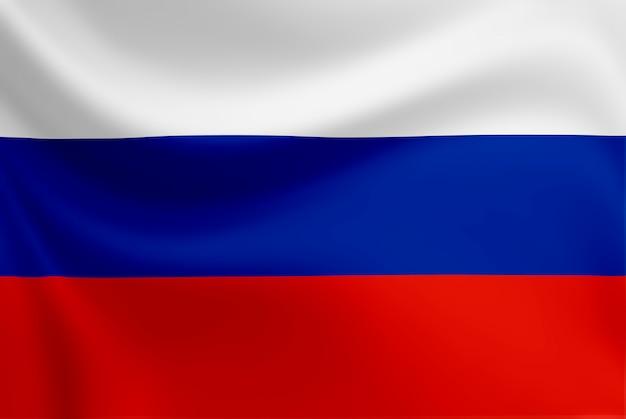 Macha flagą rosji. Premium Zdjęcia