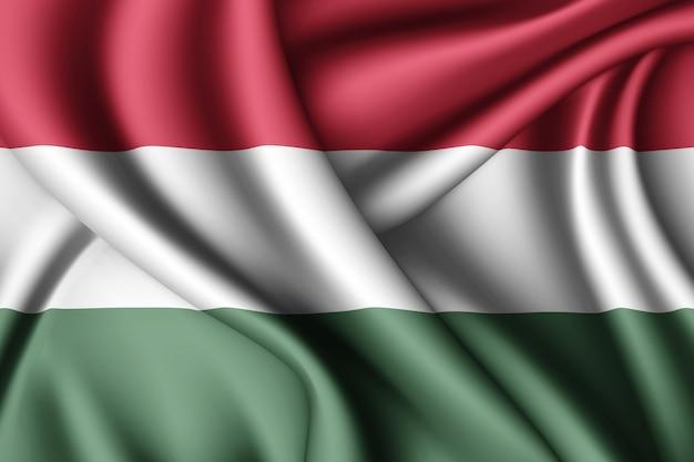 Machać Flaga Węgier Premium Zdjęcia