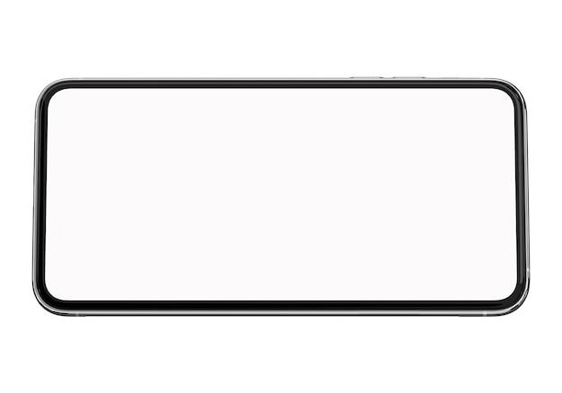 Mądrze Telefon Pełny Pusty Ekran Na Białym Tle Premium Zdjęcia