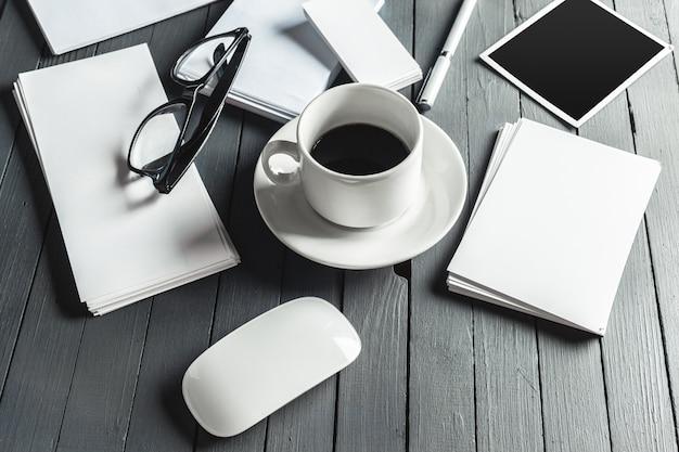Makieta Materiałów Biurowych Premium Zdjęcia