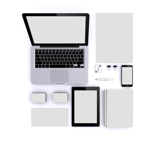 Makieta Na Białym Tle Premium Zdjęcia