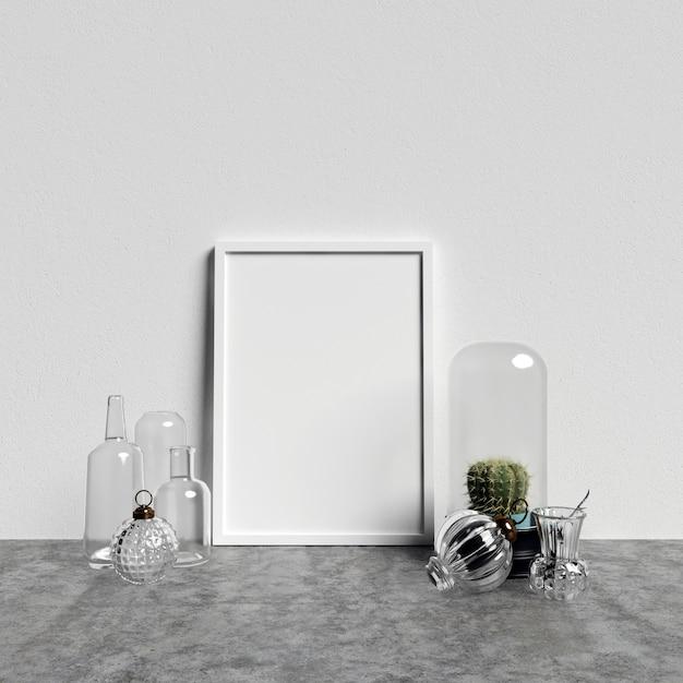 Makieta Plakatowa Z Dekoracjami Szklanymi Premium Zdjęcia