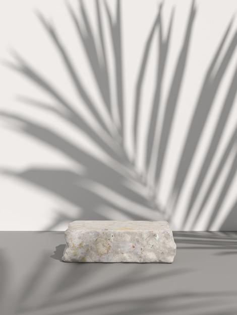 Makieta Sceny Dla Produktu Wyświetlającego. Renderowanie 3d Premium Zdjęcia