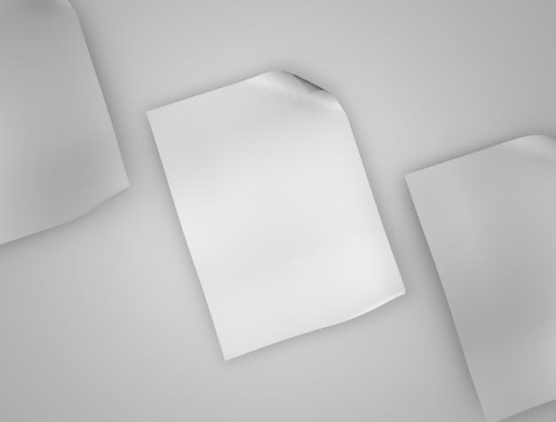 Makieta Z Nagłówkiem Premium Zdjęcia