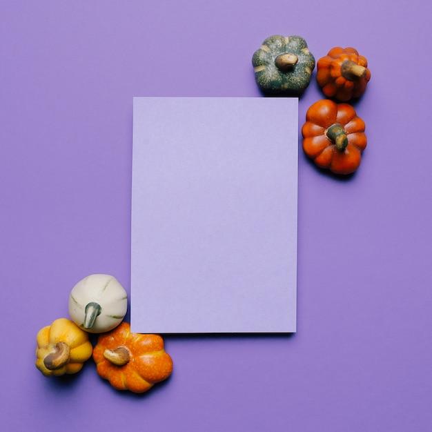 Makieta Zaproszenia Halloween Na Imprezę Z Dyniami Darmowe Zdjęcia