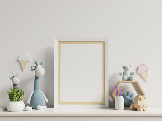 Makiety Plakatów We Wnętrzu Pokoju Dziecięcego. Premium Zdjęcia