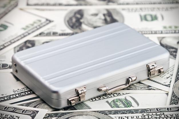 Mała aluminiowa obudowa dla dolara Premium Zdjęcia