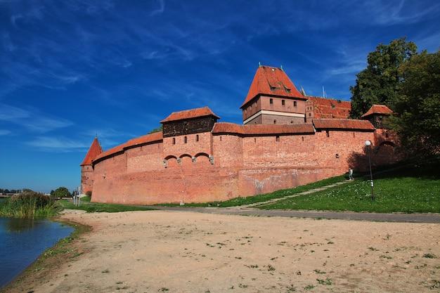 Malbork to zamek krzyżowców w polsce Premium Zdjęcia