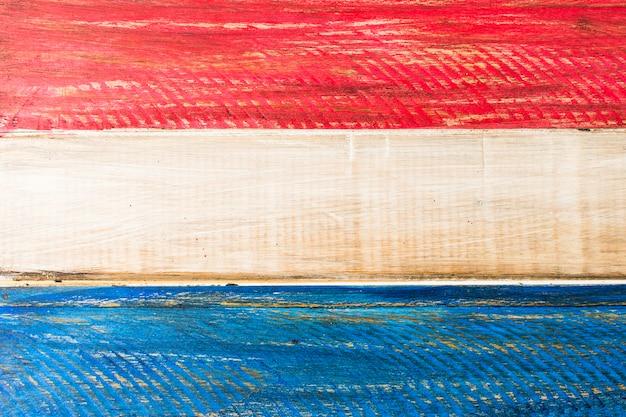 Malowane Usa Czerwony I Niebieski Kolor Na Drewnianej Desce Darmowe Zdjęcia