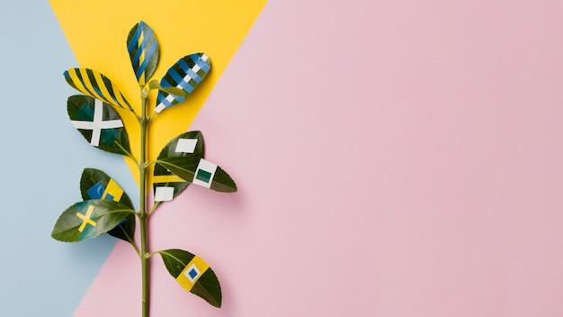 Malowany ficus z różowym kopii przestrzeni tłem Darmowe Zdjęcia