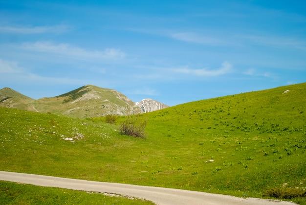 Malownicza droga w górach czarnogóry Premium Zdjęcia