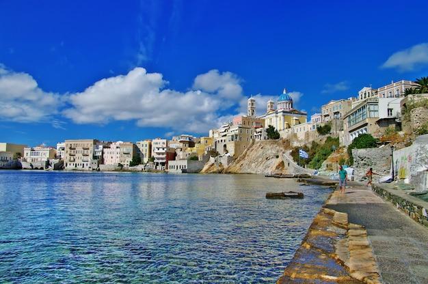 Malownicze Wyspy Cyklady. Syros, Grecja Premium Zdjęcia