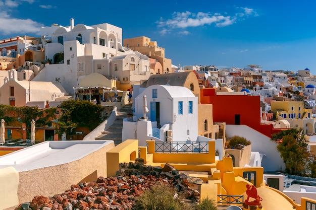Malowniczy Widok Oia, Santorini, Grecja Premium Zdjęcia