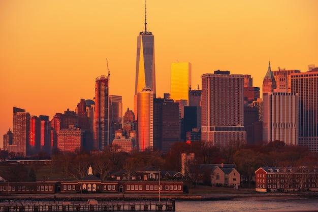 Manhattan Sunset Nyc Darmowe Zdjęcia