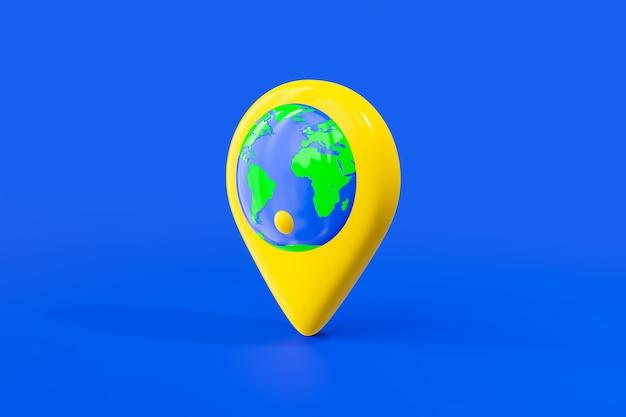 Mapa świata W Kolorze żółtym. Premium Zdjęcia
