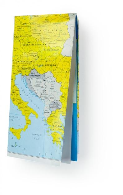 Mapa ulic na na białym tle Premium Zdjęcia