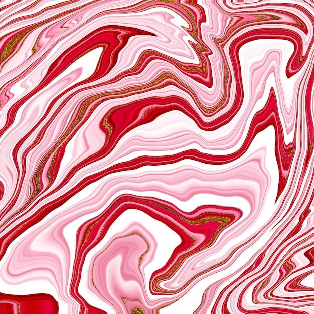 Marmurowa Płynna Tekstura Atramentu. Płynna Sztuka. Streszczenie Tło Farby. Premium Zdjęcia