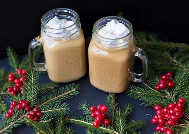 Marshmellou Gorące Drzewa Kakaowe W Tle Premium Zdjęcia