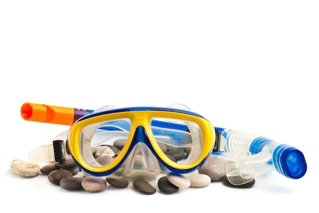 Maska i rurka do nurkowania pod wodą Premium Zdjęcia