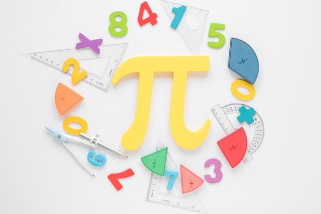 Matematyka Z Liczbami I Symbolem Pi Darmowe Zdjęcia